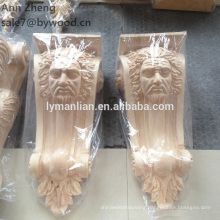 old head Wood Material corbel and Carved Technique wooden corbels