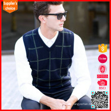 New fashion sweater vest pullover cashmere sweater vest for mens