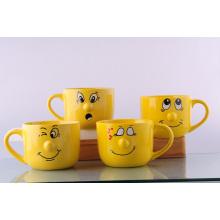 Taza sonriente de cerámica