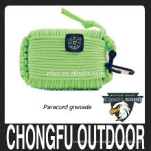 Equipo de camping-Surada de granada Llavero de emergencia Kit de supervivencia Paracord Grenade Survival Kit