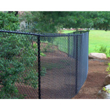ASTM A392 Standard chain link fencing fabric with 6 gauge for homes