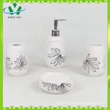 White ceramic bathroom accessories, bathroom accessories set