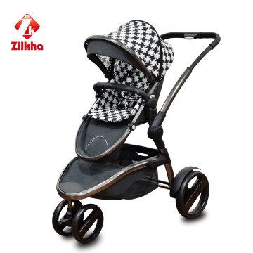 Bebé Stoller con marco + asiento regular + Dos en uno + Asiento de coche