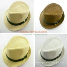 Compact Design Custom Straw Hat for Kid Boy Style