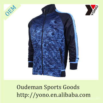 Fashion style football tracksuit for men, comfortable soccer jersey with long sleeves, cheap sport wear