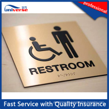 Custom Made Braille Toilet Sign Plate