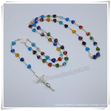 Heart Coloured Glaze Beads Necklace/Rosary/Rosaries/Bracelet/Jewelry (IO-cr402)