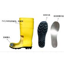 Botas de segurança amarelas com biqueira de aço