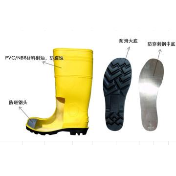 Bottes de sécurité jaunes à bout en acier