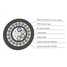 FRParmored Self-Supporting Optical Fiber Cable