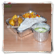 Good quality!!!disposable recyclable aluminum foil meal tray