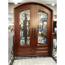 Puerta de hierro forjado de madera, puerta de hierro, puerta de hierro forjado