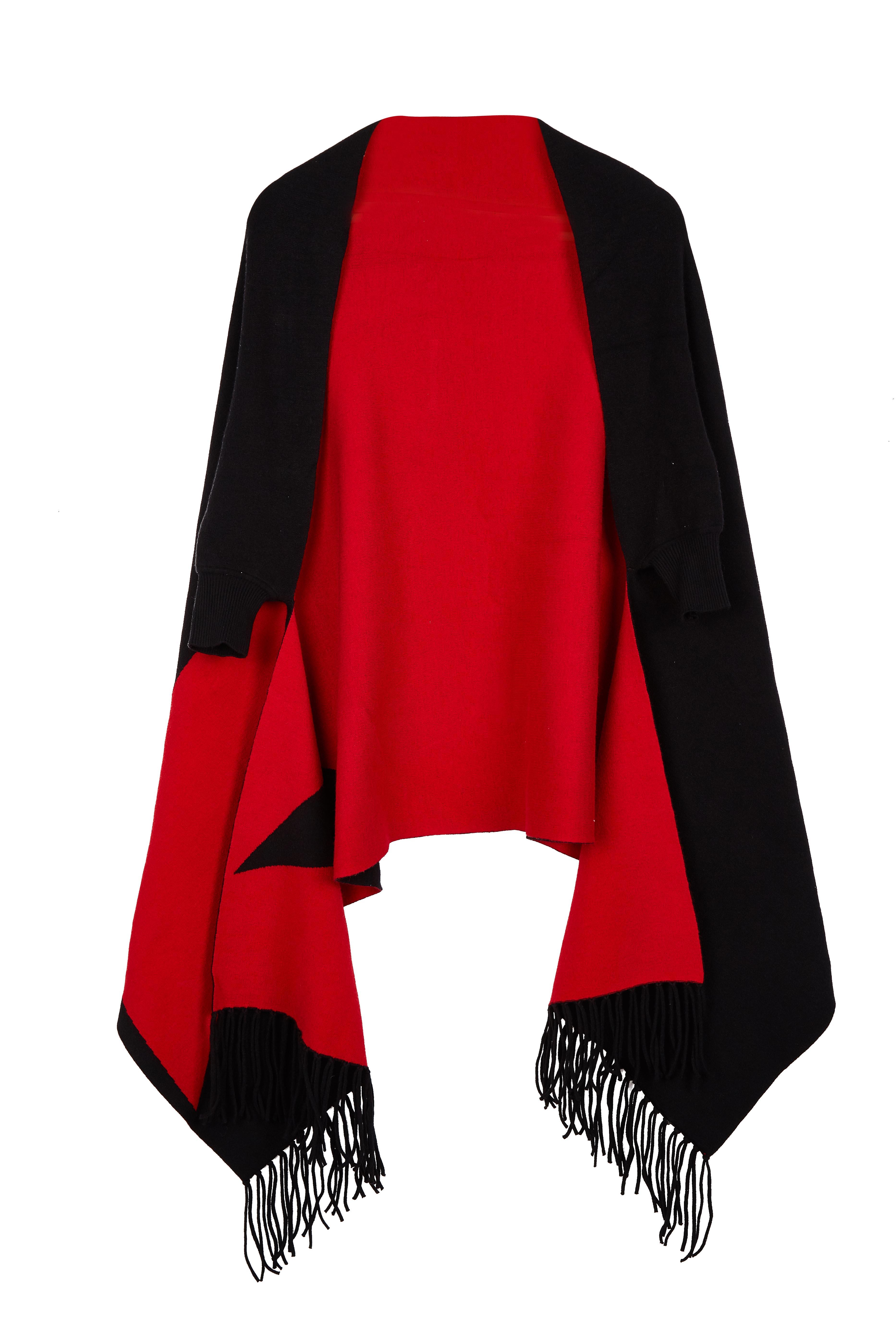 Women's Large Soft Shawl Cape Sweater Knitting Cardigan