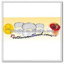 V259 304 Electrólisis de acero inoxidable redondo anillo de mousse