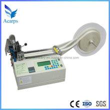 Automatic Zipper Cutting Machine com lâmina fria para cinto de tecido e fita de nylon