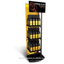 Loja de vinhos piso de pé logotipo personalizado comercial fixture Metal Beer Merchandiser Pop Displays Stand