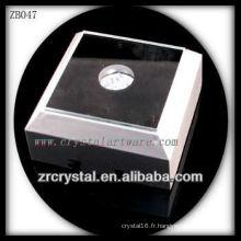 Base lumineuse carrée en plastique de LED pour le cristal