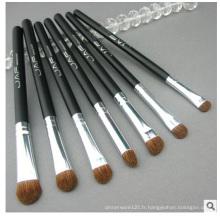 Ensemble de pinceaux de maquillage en poils d'animaux, pinceau de maquillage pour ombres à paupières 7