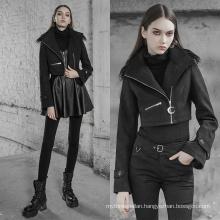 OPY-379 PUNK RAVE women short mink coat  Handsome short collar coat with collar