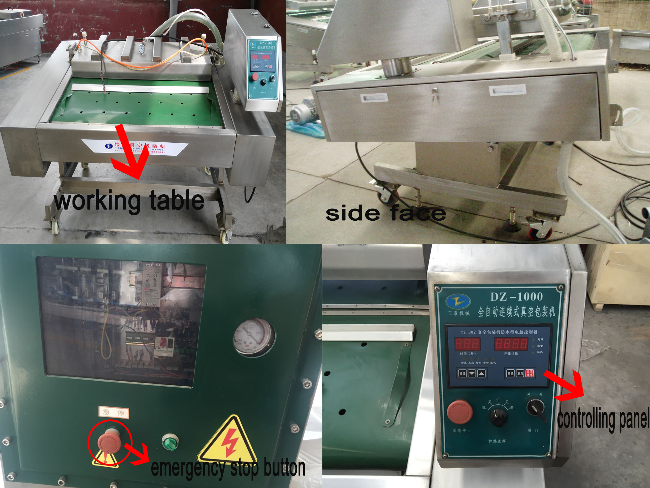 Wild Herbs Vacuum Packing Machine With Transmission System
