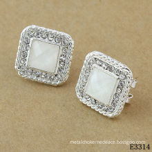 White Ladies Stud Earring, Tin Dangling Earrings For Women Jewellery  20g