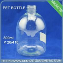 500ml garrafa de plástico PET garrafa plástica de spray de água garrafa de xampu plástico