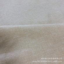Hilado de algodón de lino natural teñido de tela beige