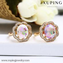13147 Unique Design Jewelry Colorful Stone Anillo de Oro de Diseño para Mujer