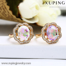 13147 Unique Design Jewelry Colorful Stone Gold Ring Design For Women