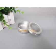 60g recipiente de alumínio de prata do estanho do chá com tampa da janela do animal de estimação (PPC-ATC-60)
