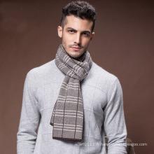 Écharpe tissée acrylique en nylon de polyester de laine chaude d'hiver des hommes (YKY4604)
