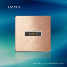 Material de aleación de aluminio del panel táctil del interruptor de iluminación de 1 cuadrilla (AD-ST1000L1)
