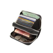 Fashion Custom Logo Women Purses Card Holder Case RFID Blocking Zipper Around PU Leather Ladies Wallet with 10 Card Slots