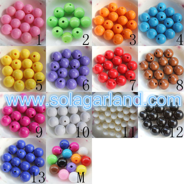 6-20MM Acrylic Opaque Round Loose Spacer Beads