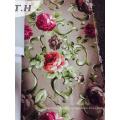 Print Velvet Upholstery Fabric Back Side with Tc
