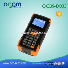 OCBS-D005: Escáner de código de barras inalámbrico Mini 433mhz con pantalla y memoria