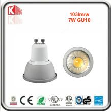 Garantia de 5 anos 7W 630lm Dimmable LED Bulbo GU10