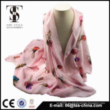 2014 pluma vendedora caliente impresa bufanda principal