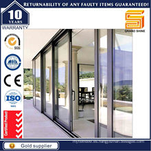 Puerta corredera de aluminio de vidrio templado de alta calidad