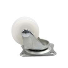 1.25 inch light duty flat plate swivel PP casters