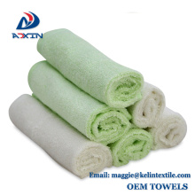 Sample free bamboo baby wash cloth, super gentle baby bamboo bath/face towel