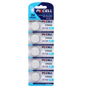 PKCELL 5Pcs/Card 3v rechargeable lithium battery battery holder cr2032
