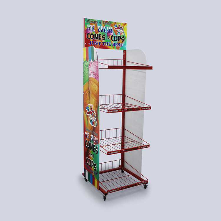 Customized Metal Potato Chip Rack For Supermarket