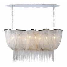 Contemporary fixtures luxury round modern design home kitchen chain pendant light LED chandelier