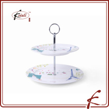 Ceramic 2 layer cake stand party display