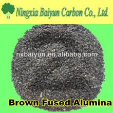 grain abrasif d'oxyde d'aluminium brun de 80mesh pour le souffle de sable sur le verre plat