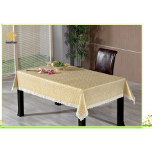 PVC Printed Embossed and Gold Tablecloth with Flannel Backing