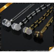 Natürliche Punkt-Quarz-Druzy-hängende Halskette, Großhandels-Edelstein-Kristallhalsketten-Art- und Weise Rosenkranz-Halskette (CN005)