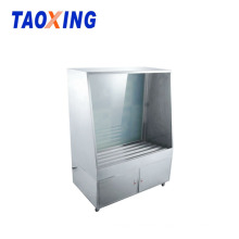 Stainless steel screen washing booth with high pressure gun