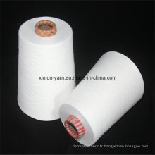 Fils mélangés polyester / coton 40s pour le tissage